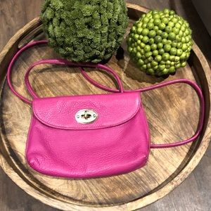 Fossil Pebbled Leather Clutch/Crossbody {PINK}